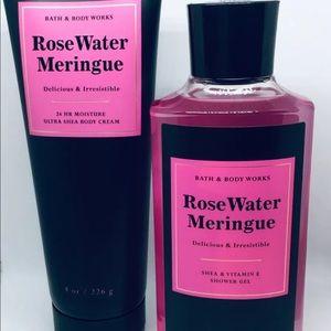 Bath & Body Rose Water Meringue Shower Gel Lotion